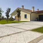 Pavimento stampato giardino Treviso