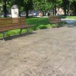 Pavimento stampato parco Treviso