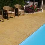 Cemento stampato piscina Pordenone